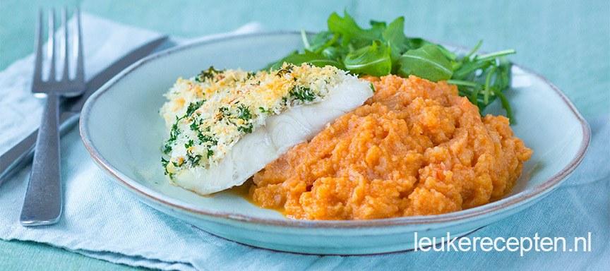Light recept: kabeljauw met wortelpuree