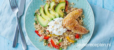 Quinoa met krokante kip