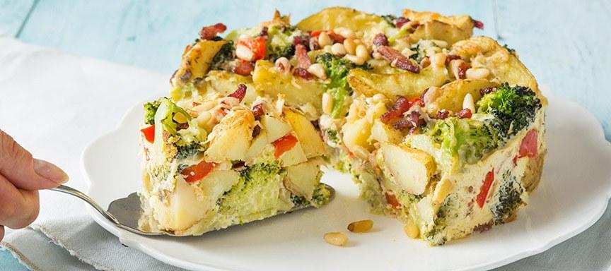 AVG-tje maar dan anders: aardappeltaart met broccoli