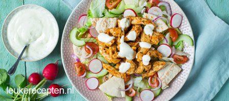 Salade met kip gyros