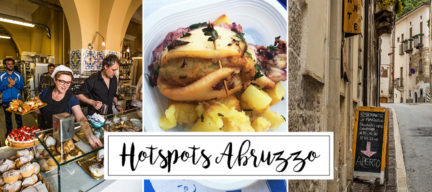 10 x hotspots in Abruzzo, Italië