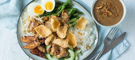 Gado gado met rijst