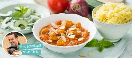 5 foodfotografie tips + tikka masala