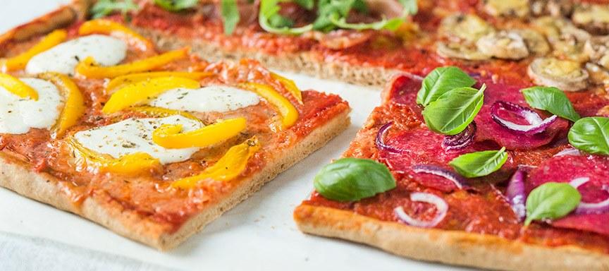 Mijn volkoren quattro stagioni pizza