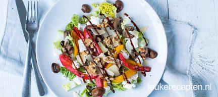 Salade met champignons en balsamico