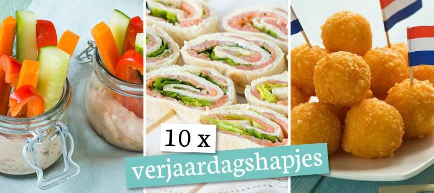 Vaak 10 x hartige verjaardagshapjes - Leuke recepten @FD36