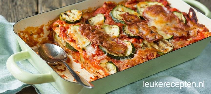Lasagne met salami