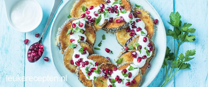 Krokante aubergine snacks