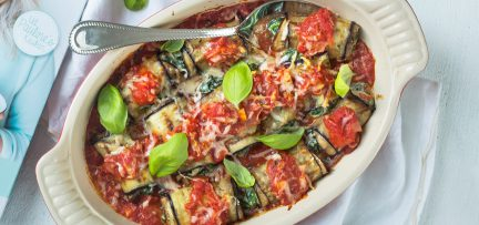 Aubergine cannelloni + review Feel Good Food