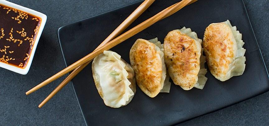 Gyoza / dumplings met kip