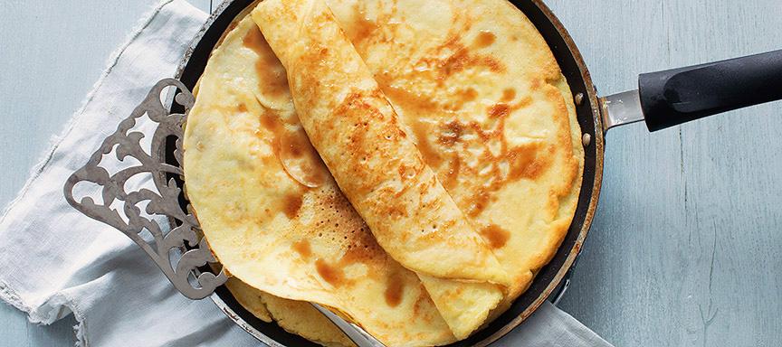 Recept voor pannenkoeken bakken