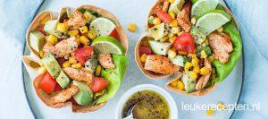 tortilla-salade-met-kip