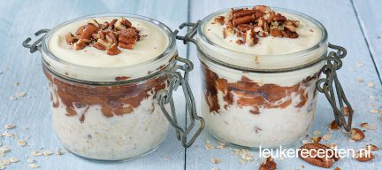 Appeltaart overnight oats