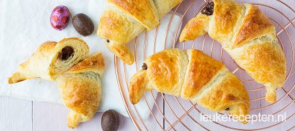 Chocolade paasei croissantjes