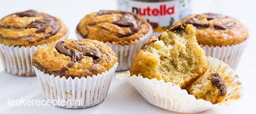 Nutella muffins met banaan