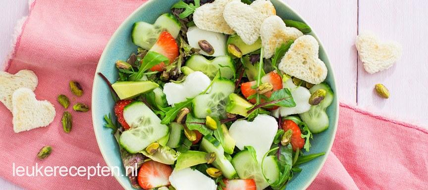 Hartjes salade met munt dressing