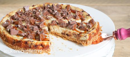 Salted caramel cheesecake met Toblerone