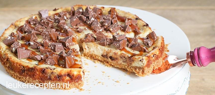 Salted caramel cheesecake met Toblerone