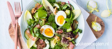 Salade met witlof en ei