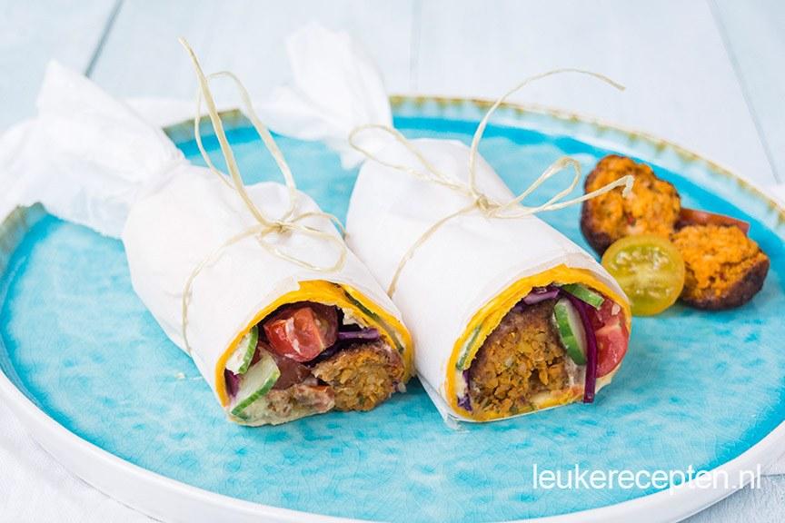 falafel wrap www.leukerecepten.nl