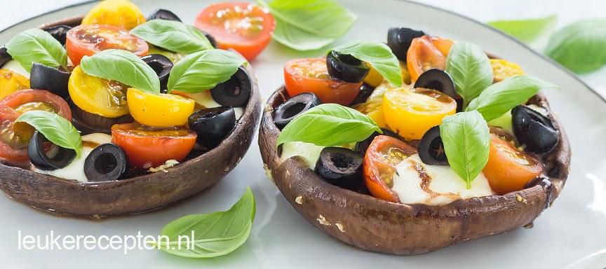 Gevulde portobello met mozzarella