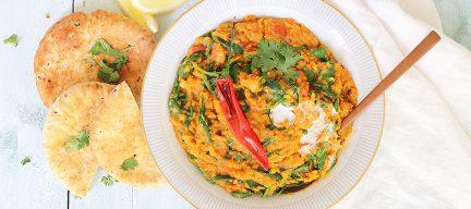 Indiase dahl met spinazie