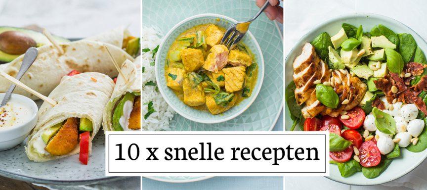 10 x snelle recepten