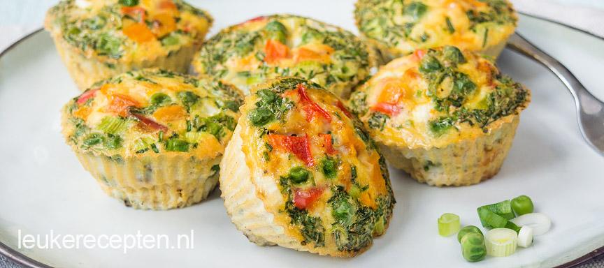 Vegetarische ei muffins