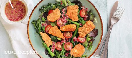 Light recept: kipnuggets met bimi salade