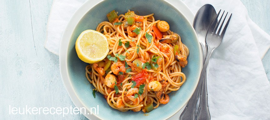 Paella spaghetti