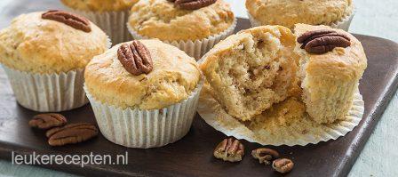 Pecan muffins met 2 ingrediënten