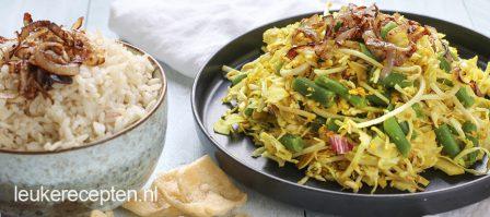 Balinese salade met sperziebonen