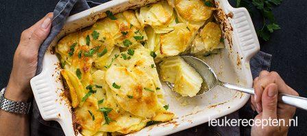 Traditionele aardappelgratin