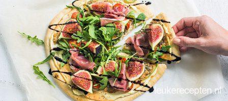 Pizza met vijgen