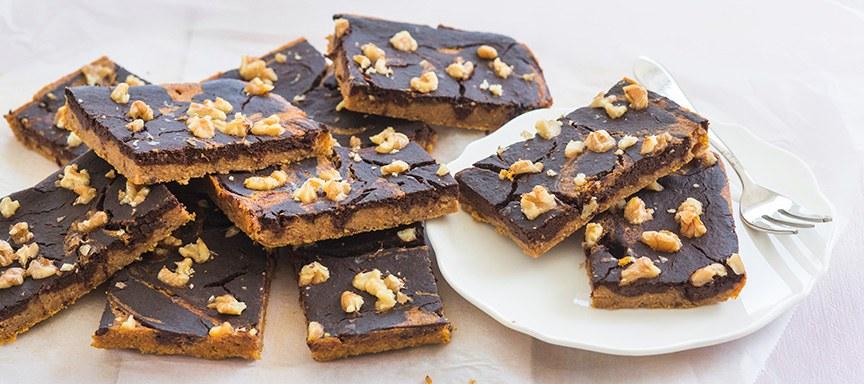 Minder suiker: pompoen brownies + hoe vervang ik suikers?