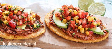 Mexicaanse huaraches met salsa