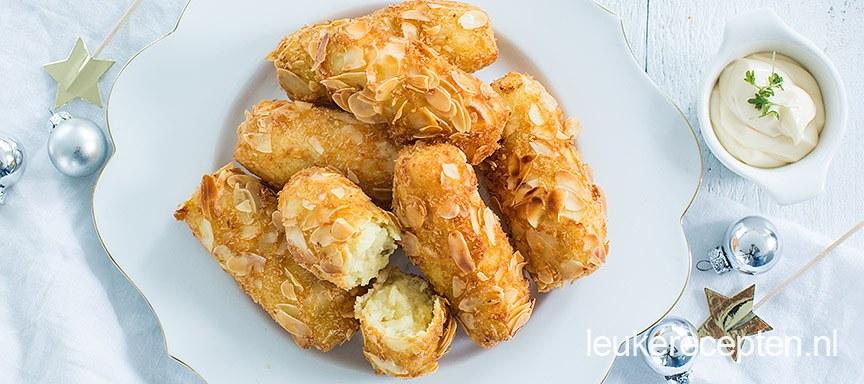 Aardappelkroketjes met amandelkorst