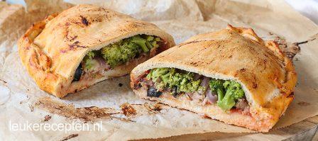Budget recept: Pizza calzone met tonijn en broccoli