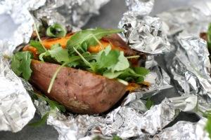 gepofte zoete aardappel met zuurkool www.leukerecepten.nl