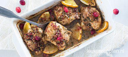 Kip met cranberry uit de oven