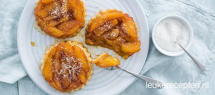 Mini tarte tatin met mango