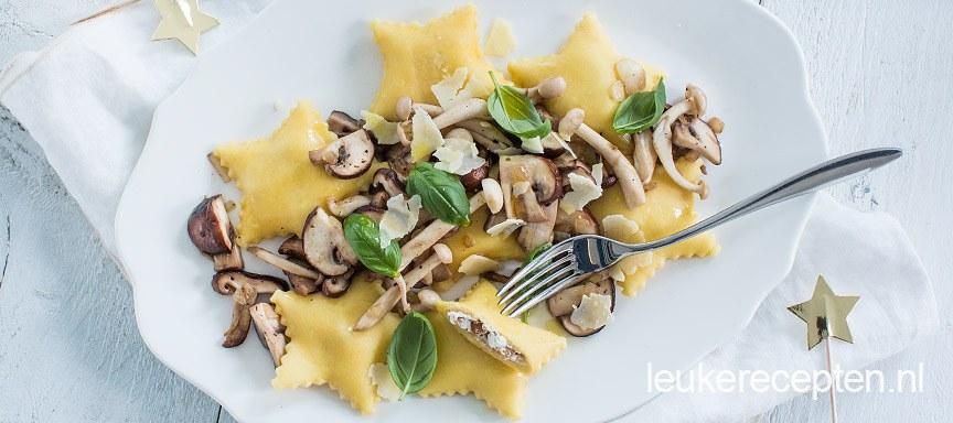 Ster ravioli met truffel