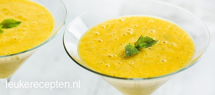 mango lassi met munt www.leukerecepten.nl