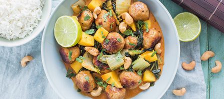 Alles over Thaise curries + rode curry met kipballetjes in 25 minuten