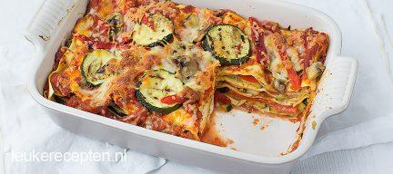 Vegetarische groentelasagne