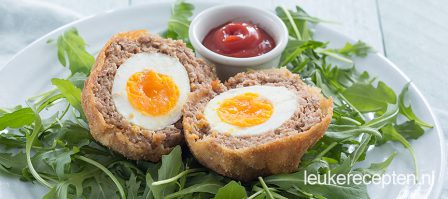 Gehaktballen met ei (scotch eggs)