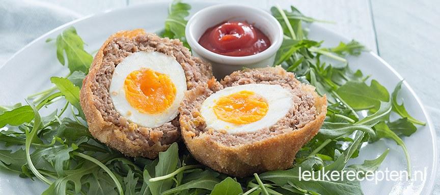 Gehaktballen met ei (scotch eggs)