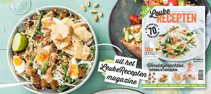 LeukeRecepten magazine 2018 is uit + recept gado gado salade
