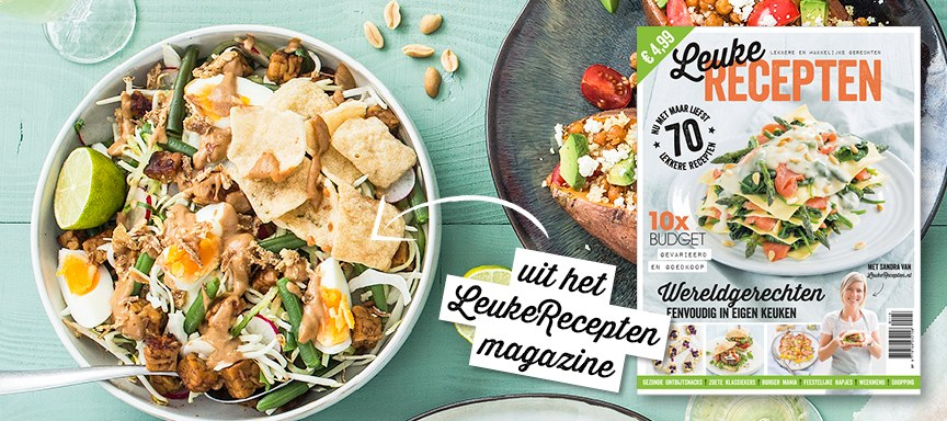 LeukeRecepten magazine 2018 is uit + recept gado gado salade