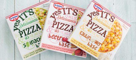 Nieuw: pizza met groentebodem uit de diepvries